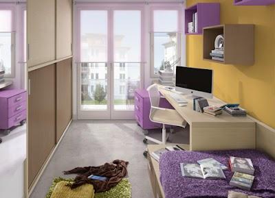 Dormitorio Home at Home con escritorio doble