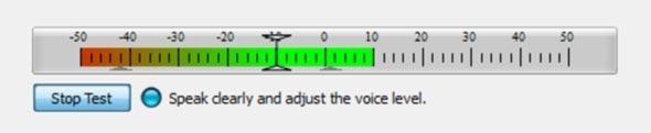 Ajuste do voice activation.