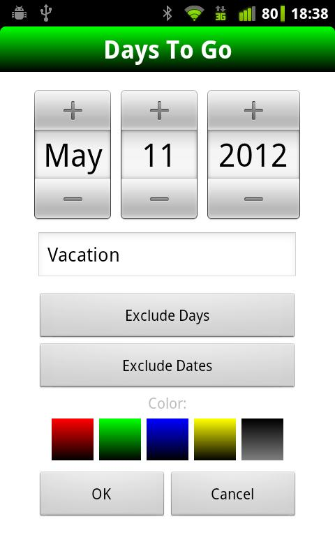 Days To Go (Free)- screenshot