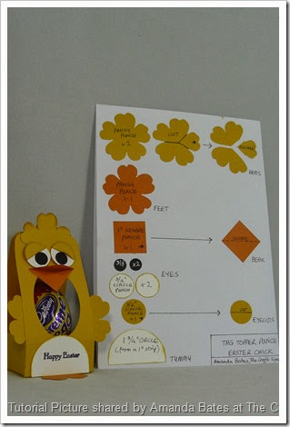 Easter Chick, Tag Topper, Tutorial 002