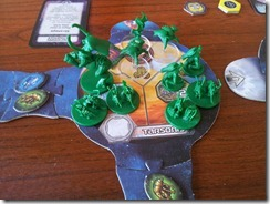 Star Craft Board Game - Zerg massing for an attack