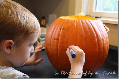 drawing a jackolantern