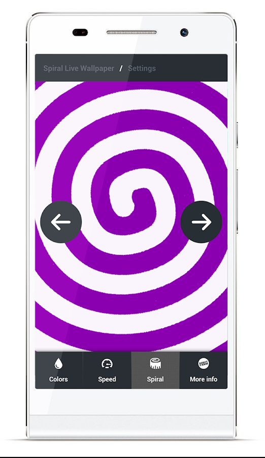 Spiral Live Wallpaper FREE- screenshot