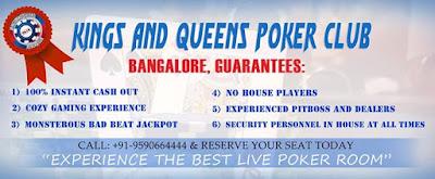 Kings & Queens Poker Club - Bangalore 08/26/2016