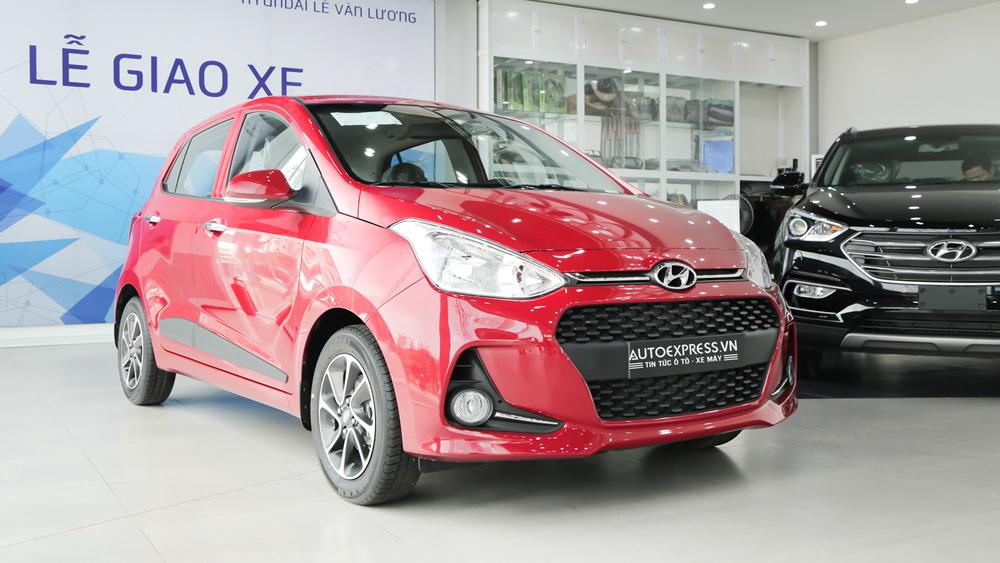 Xe Hyundai Grand i10 2018 màu đỏ 01