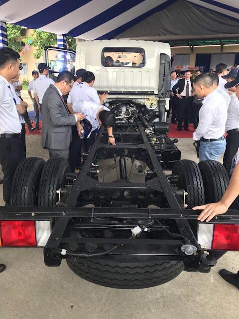 Chassi xe tải IZ65s Đô Thành 2.5 tấn có kết cấu vững chắc và bền bỉ