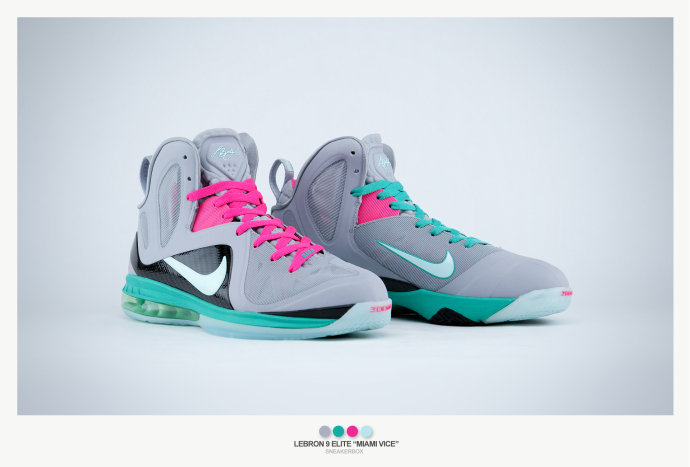 hot sale online 36e60 d89c7 ... Nike LeBron 9 Elite 8220Miami Vice8221 Ultimate Gallery by Sneakerbox  ...