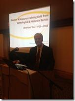 Curt Witcher在2012年FGS会议上解决了图书馆员