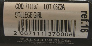 Shaka Full Color Gloss College Girl