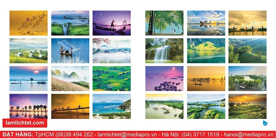 In Lịch Để Bàn Đẹp,TpHCM Hà Nội, Mẫu Lịch Bàn - Hình Tuỳ Chọn