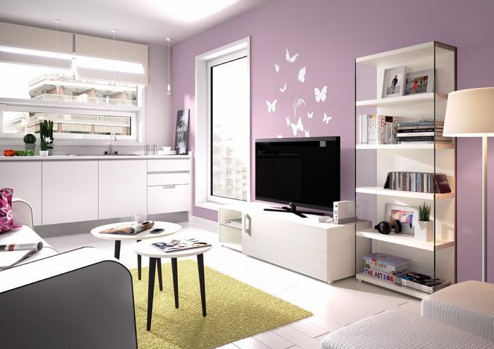 muebles para salones pequeos dormitorio with decoracion salones modernos pintura