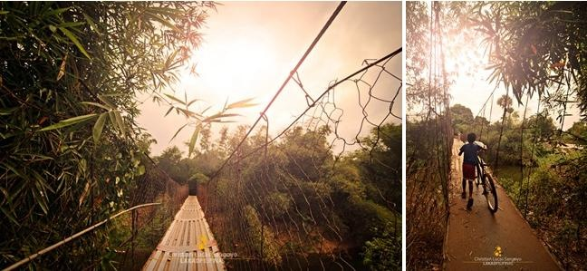 Maasim's Hanging Bridge at San Rafael, Bulacan