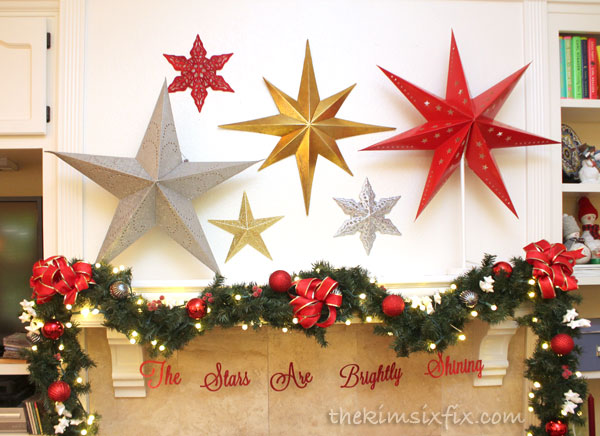 Stars are brightly shining mantel