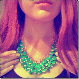 hm-necklace-blue-statement-bib-huge-ootd-ginger