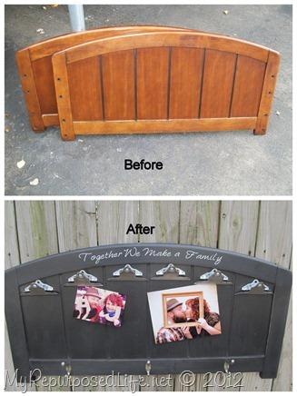twin headboard photo display 2