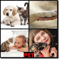PET- 4 Pics 1 Word Answers 3 Letters