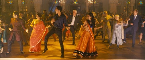 "L - R: Lillet Dubey as ""Mrs. Kapoor,"" Dev Patel as ""Sonny Kapoor,"" Richard Gere as ""Guy,"" Tena Desai as ""Sunaina,"" Judi Dench as ""Evelyn Greenslade"" and Bill Night as ""Douglas Ainslie"" in THE BEST EXOTIC MARIGOLD HOTEL 2. Photo courtesy Fox Searchlight Pictures. Copyright © 2014 Twentieth Century Fox"