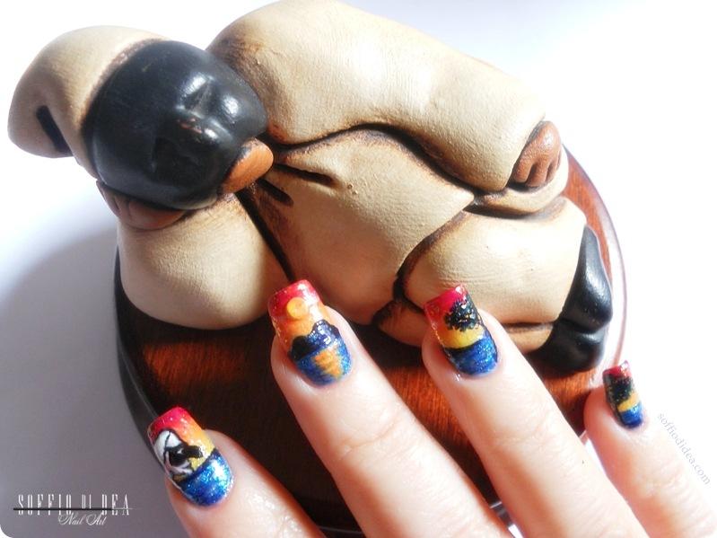 nail art - soffio di dea - tramonto sul vesuvio -17