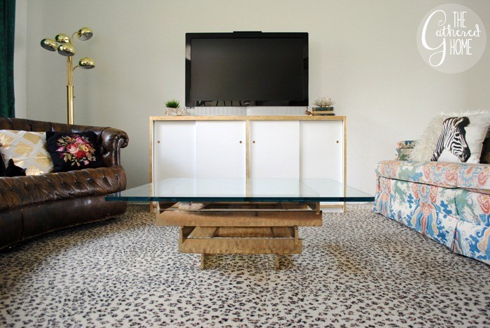 vintage brass stacked coffee table2