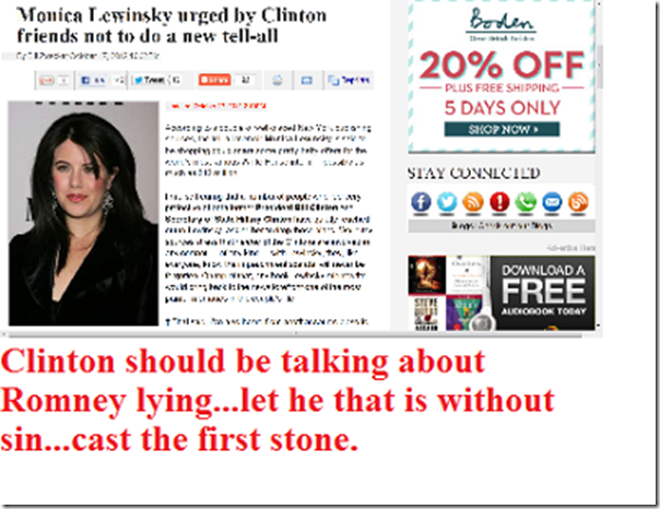 Clinton Monica lying