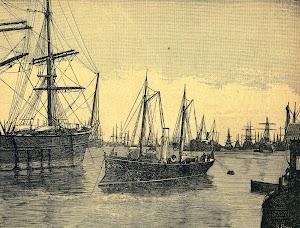 La cañonera CUERVO. Grabado de R. Paris. REVISTA DE NAVEGACION Y COMERCIO. Año 1.894.JPG