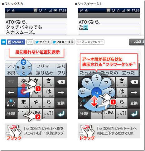ATOK for Android フラワータッチ