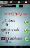 Screenshot of Numeri Utili