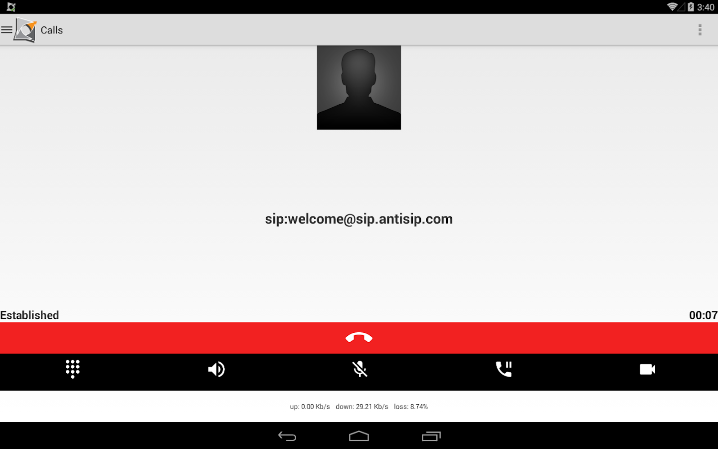 Voip By Antisip (+Video) - screenshot