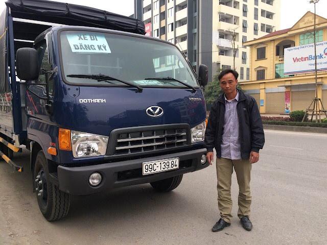 Khách hàng ở Bắc Ninh đã mua xe đô thành Hyundai HD120sl 8 tấn