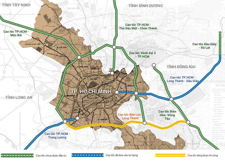 Các Tuyến Đường Cao Tốc kết Nối Tp Hồ Chí Minh Và Các Tỉnh