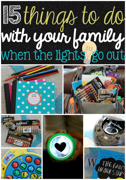 15 Things to Do with Your Family when the Lights Go Out #PrepWithPower  #CollectiveBias #shop