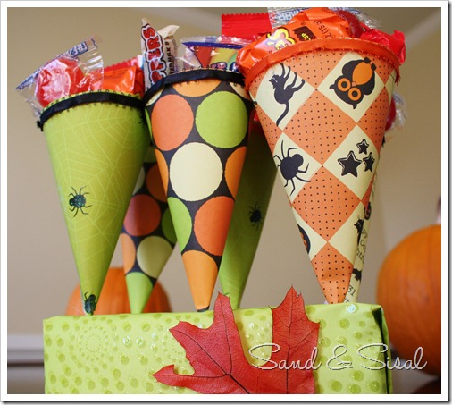 Halloween Treat Cones 2