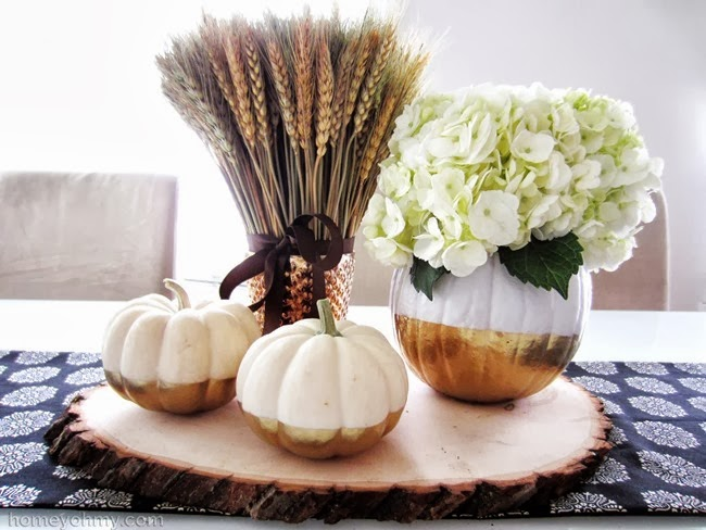 Gold-Dipped-Pumpkins-Centerpiece