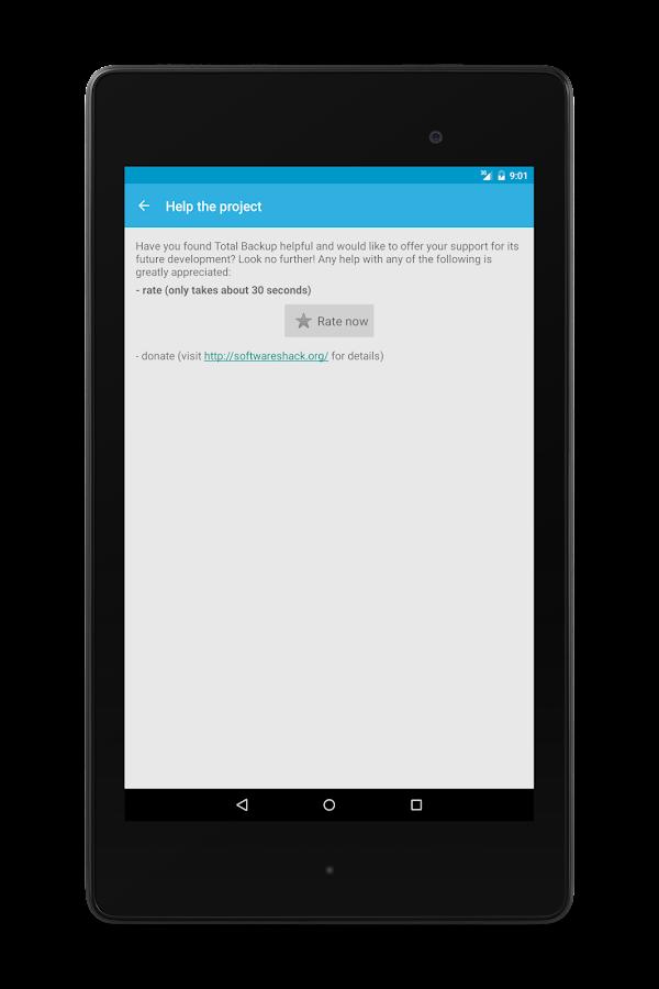 Total Backup - screenshot