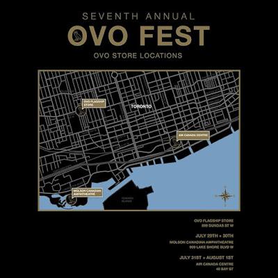Toronto OVO Store Locations  wwwoctobersveryowncomovofest instagramcomwelcomeovostore