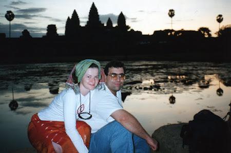 Obiective turistice Cambogia: Rasarit la Angkor Wat