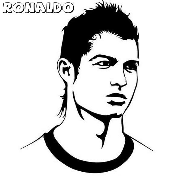 Cristiano Ronaldo Dibujos Para Colorear