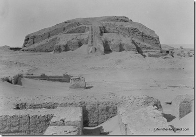 Ur, Ziggurat from east, mat13196