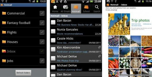 aplicacion de Hotmail para Android
