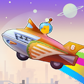 rocket racer 6 space;toy