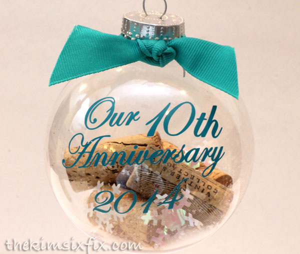Anniversary Cork Ornament