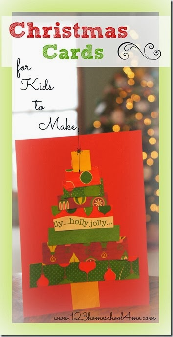 Christmas card Craft for kids - Super cute and simple card kids can make themselves is a great christmas activity for kids of all ages.