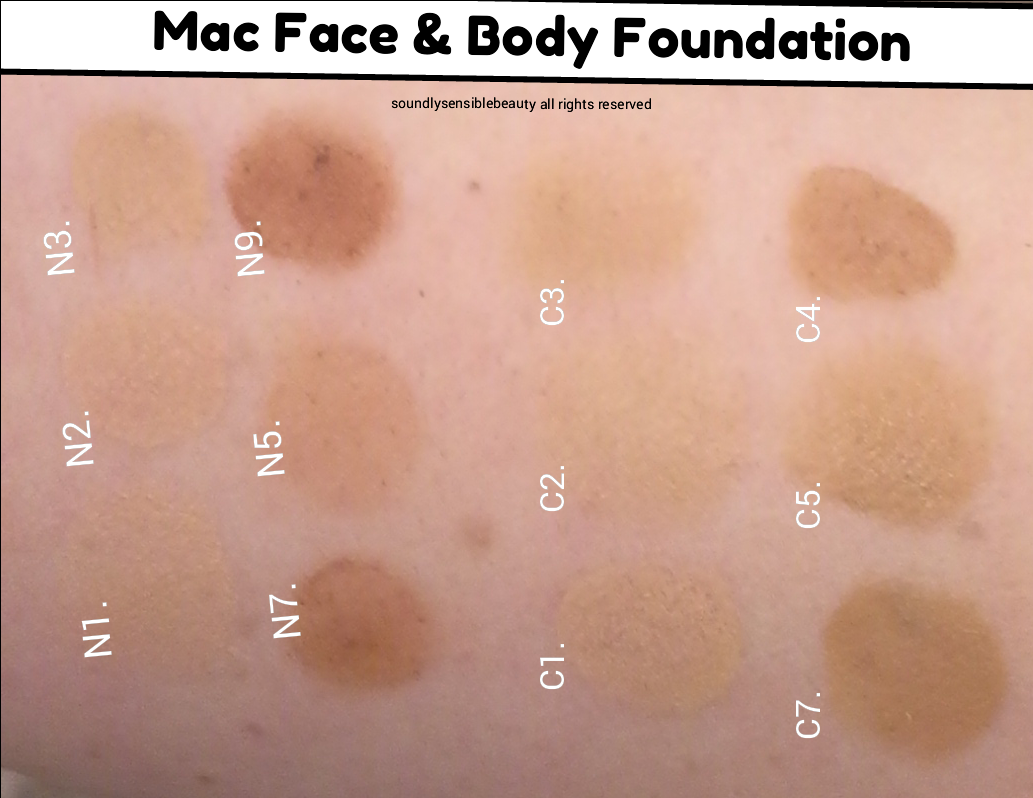face and body mac n3