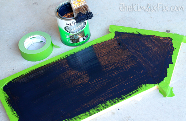 Painting chalkboard arrow