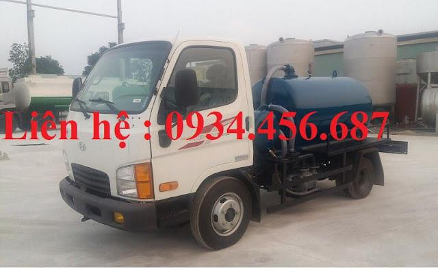 Xe bồn hút bể phốt 1.8 khối Hyundai N250