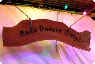 dance hall sign
