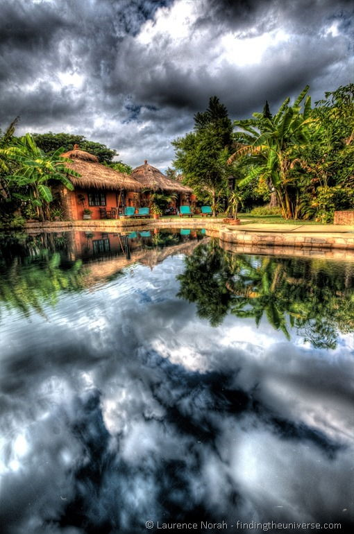 Cloud reflection hostel Thailand