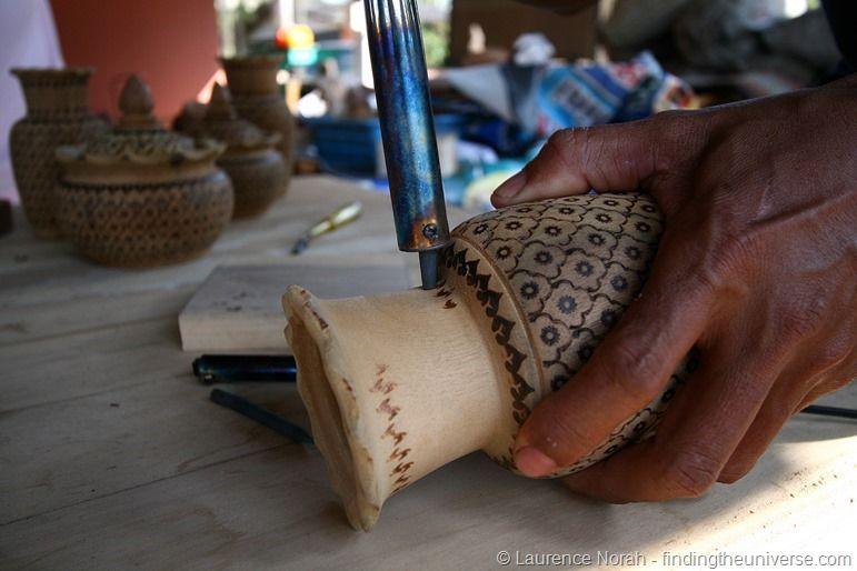 Taro wood carving Trang Thailand hand