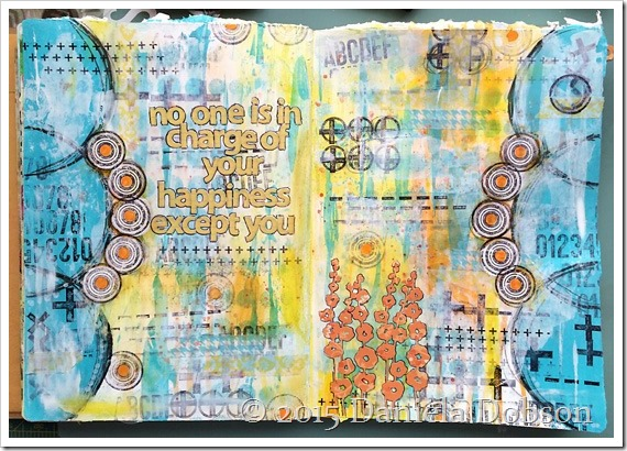 Mixed media page finished Happiness by Daniela Dobson