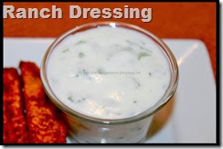 Eggless Ranch Dressing